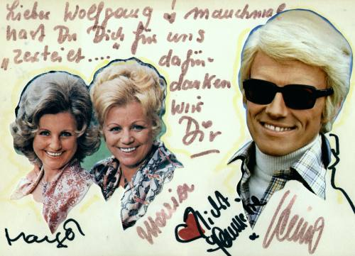 Many thanks for the cooperation on Tour 1981/82 from Maria, Margot Hellwig and Heino, the mega-stars of German Volksmusik